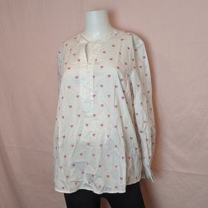 Coldwater Creek Heart Blouse
